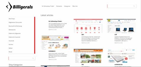 Webseiten Billigerals