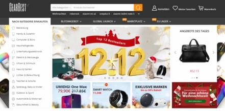 Gearbest Webseiten Foto vom Billigerals Team