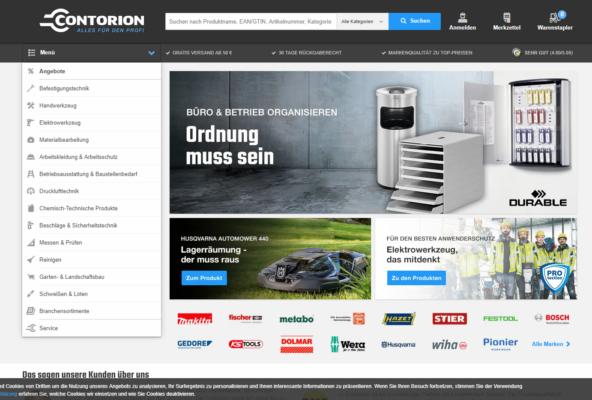 Webseite Contorion