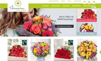 Screenshot der Valentins Webseite